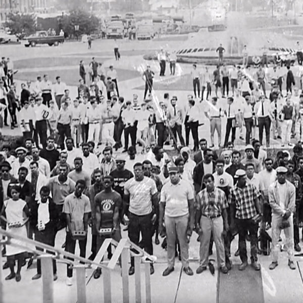 a crowd of black students