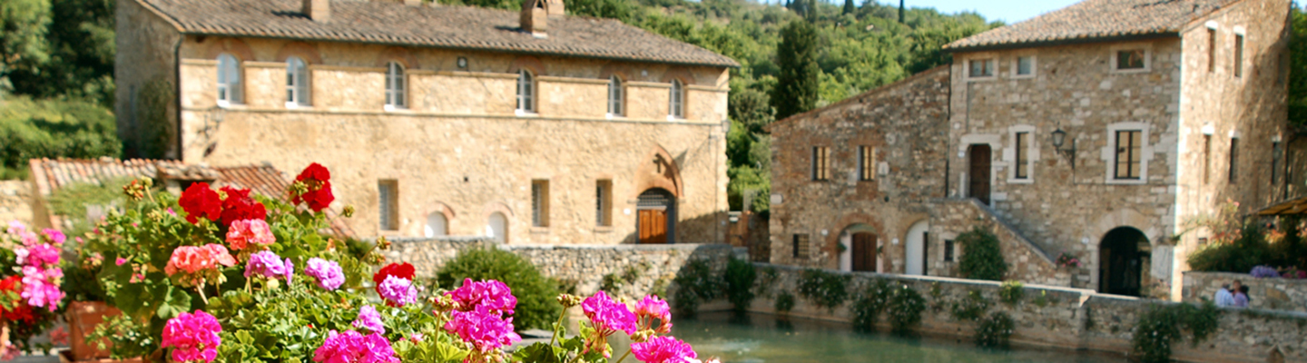 Chianti flowers and buildings