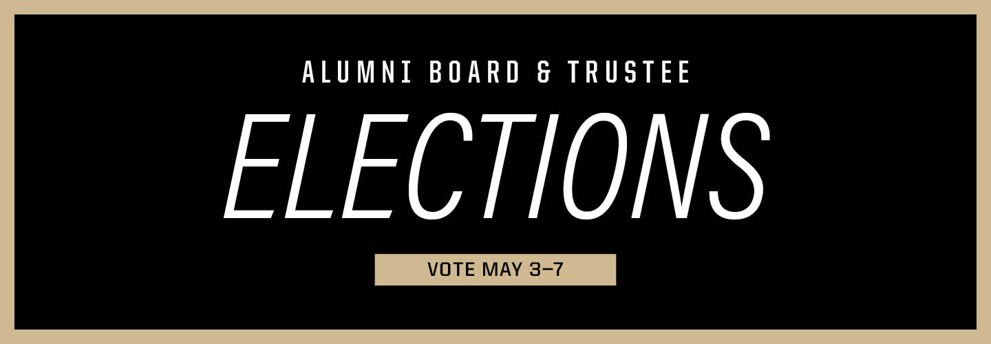Alumni board and trustee elections voting is may 3 through may 7
