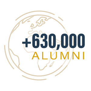 More than 630,000 alumni worldwide