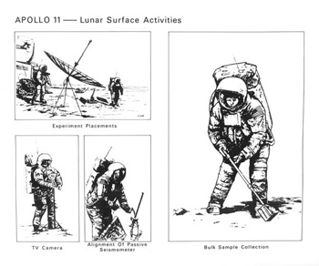illustrations of a space suit