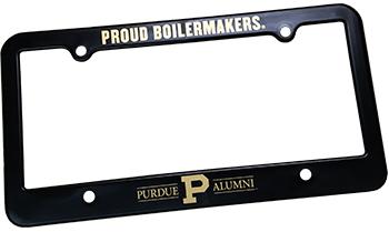 Purdue branded license plate holder