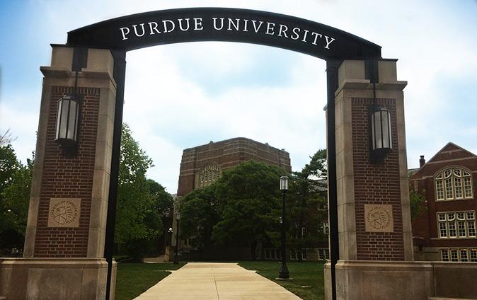 The gateway arch on Purdue's southeast corner