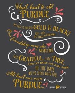 the Purdue fight song lyrics