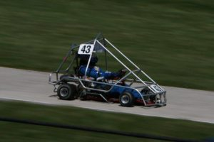 Kait Hauber drives Gran Prix cart