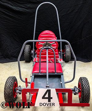 red kart from the front