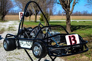 black kart from the front
