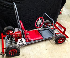 red kart from the side