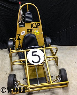 gold kart from the front