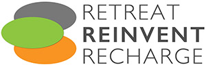 Retreat, Reinvent, Recharge Logo