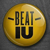 A digital pin that says beat IU
